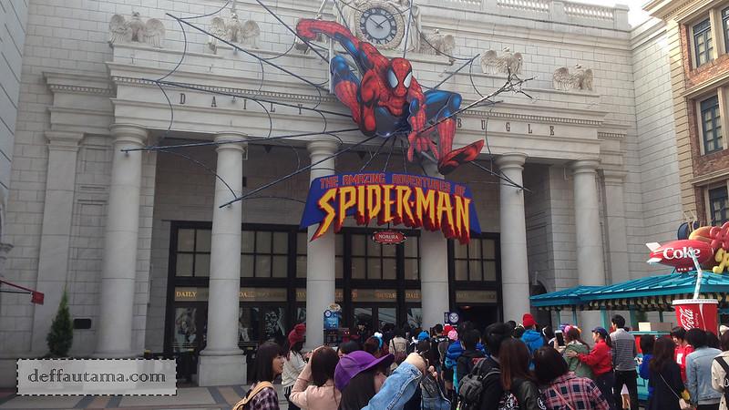 2 Hari Keliling Osaka - The Amazing Spiderman The Ride