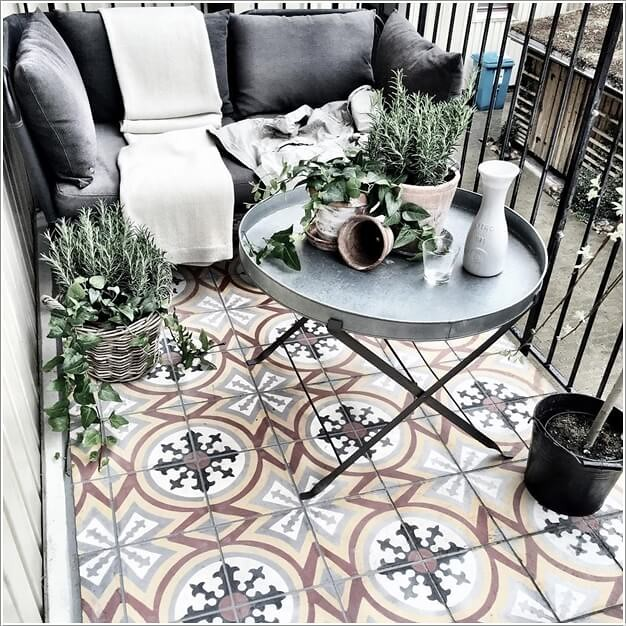 Decorate Your Balcony with Patterns