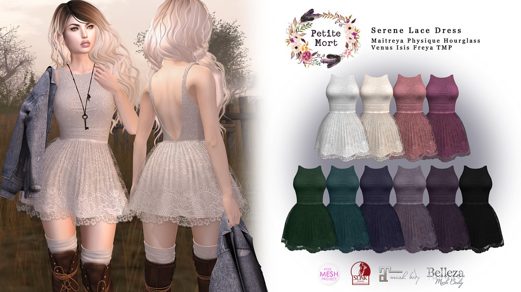 Petite Mort- Serene Lace Dress - SecondLifeHub.com