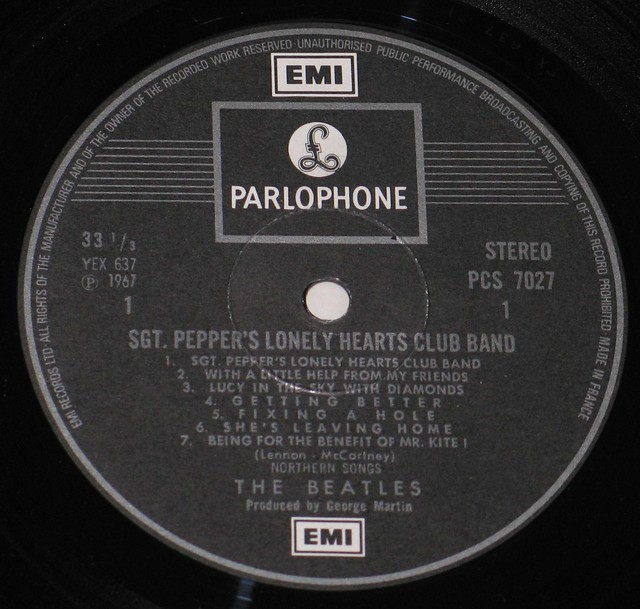 The Beatles Sgt Pepper's Lonely Heart Club Band Parlophone + INSERT