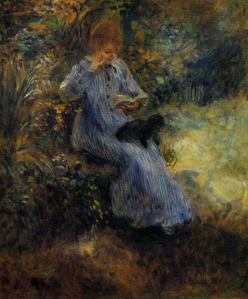 Woman with a Black Dog by Pierre Auguste Renoir, 1874