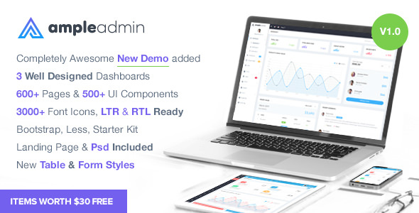 Ample Admin v1.0 – Ultimate Dashboard Template