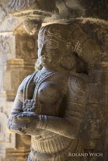 Statue at Padmanabhapuram Palace