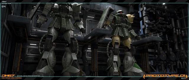 Gundam Prototype - Hangar Zaku 2