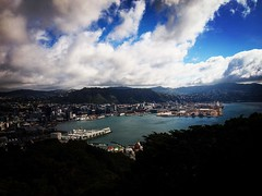 Wellington, New Zealand seen from Mount Victoria Overlook A great overview of the entire area from Mount Victoria on a blustery, but beautiful, winter's day. #newzealand #wellington #mountvictoria #sky #clouds #city #nature #outdoors