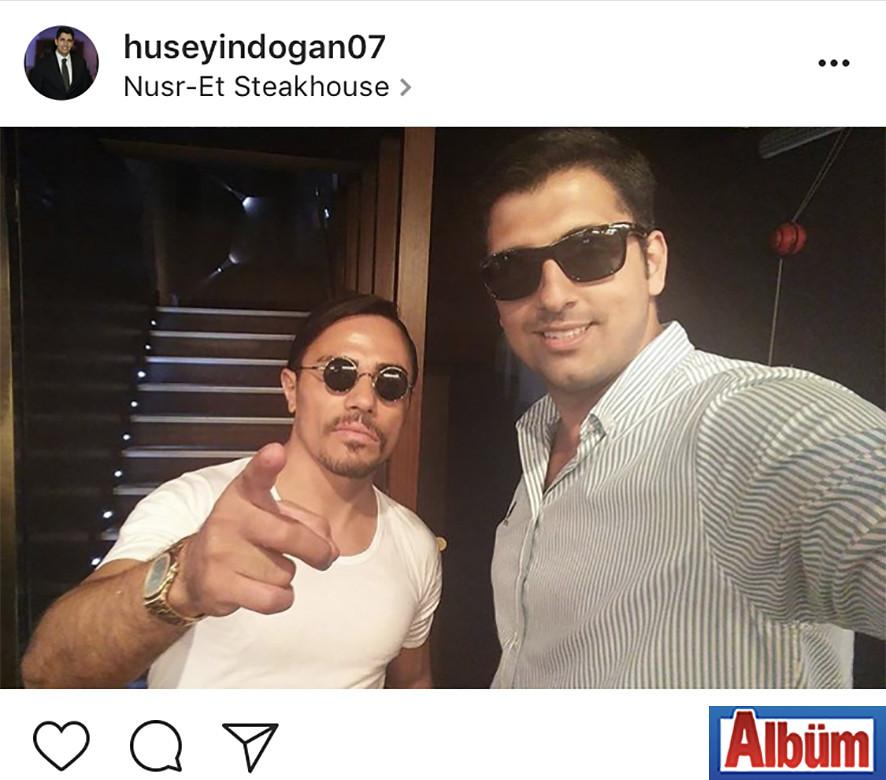 Hüseyin Doğan, Nusr-Et Steakhouse sahibi Nusret ile bu fotoğrafı paylaştı.