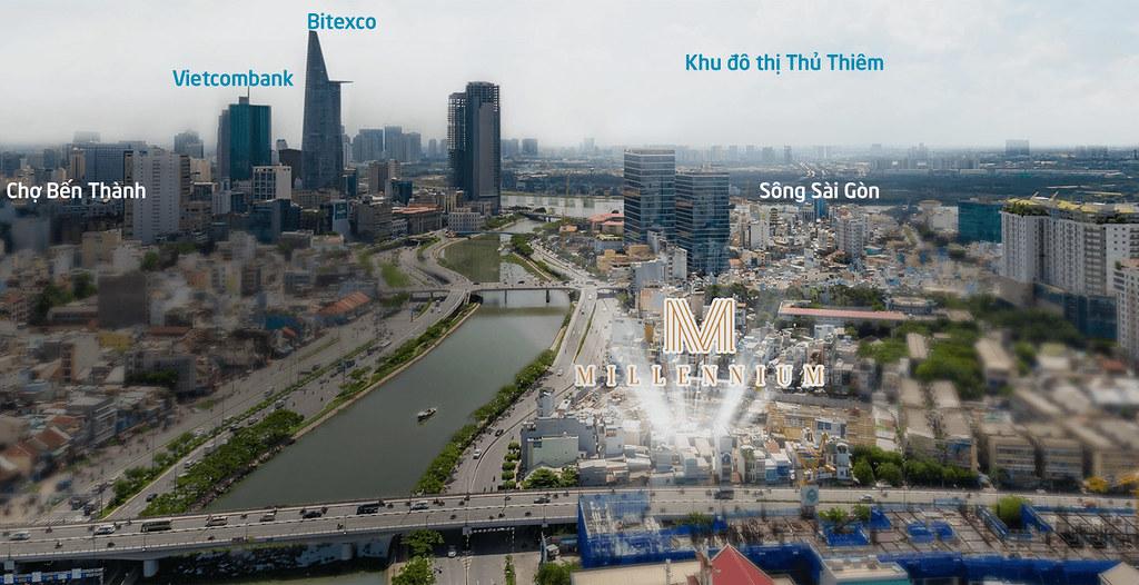 Vị trí Penthouse Millennium Masteri quận 4 với view nhìn toàn cảnh độc đáo (pentvilla).