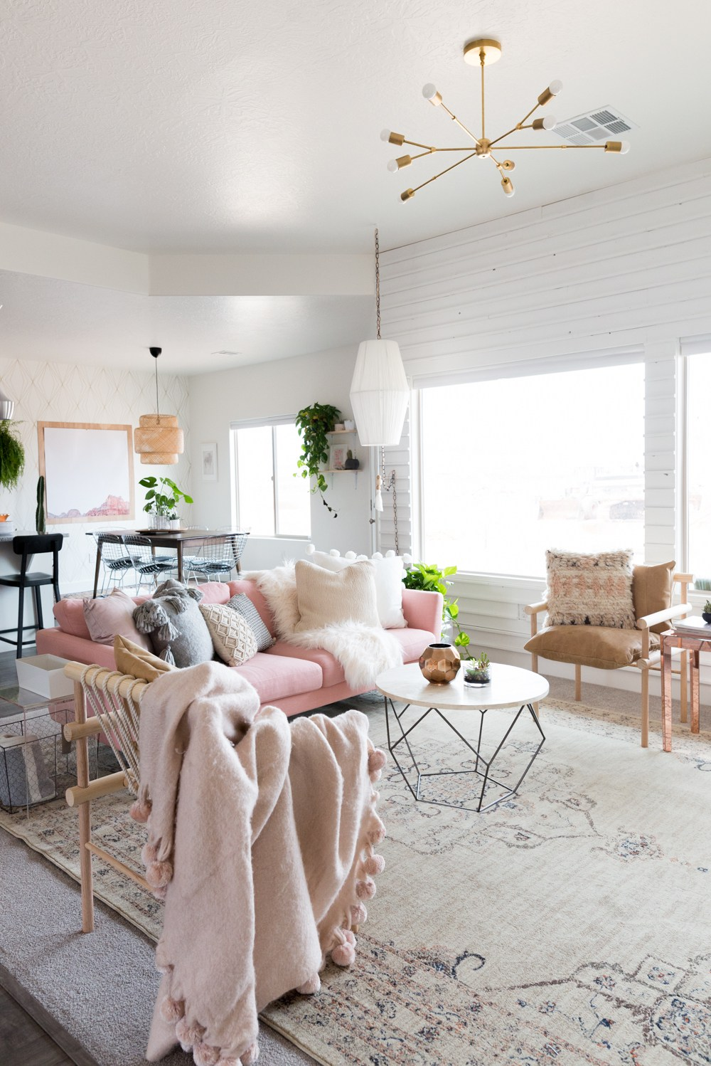 9 Sofas That Will Make You Rethink Your Neutral Decor | Pink Design Inspiration Blush Sofa Couch White Light Neutral Decor