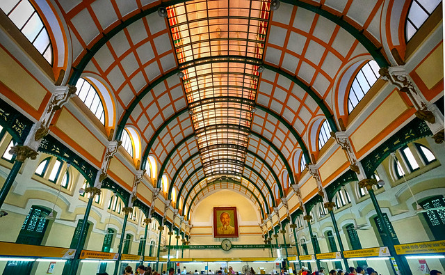 Central Post Office in Ho Chi Minh City, Vietnam