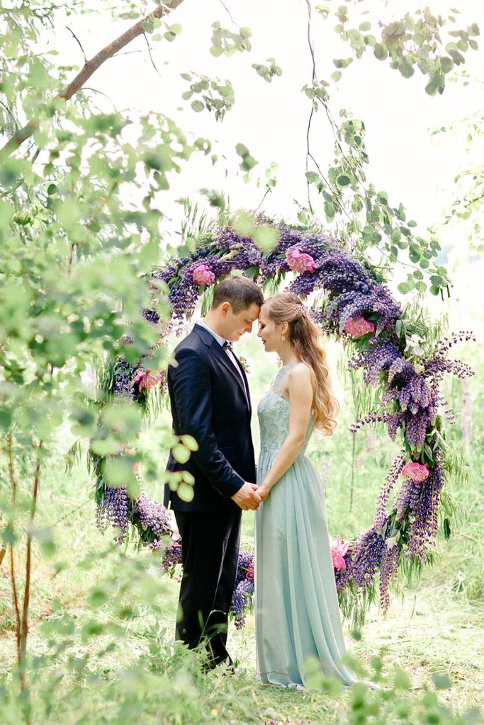 Wedding Photography Inspiration : vow renewal with floral backdrop...