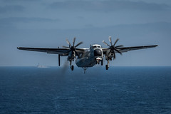Official file photo of a C-2A Greyhound. (U.S. Navy/MC3 Alex Corona)