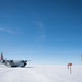 "A ski-equipped LC-130 Hercules aircraft, with the 109th Airlift Wing, taxis to the skiway at Raven Camp, Greenland, July 30, 2017. The 109th's ""skibirds"" are the only ski-equipped aircraft in the Department of Defense. (U.S. Air Force photo by Tech. Sgt. Greg C. Biondo/Released)"
