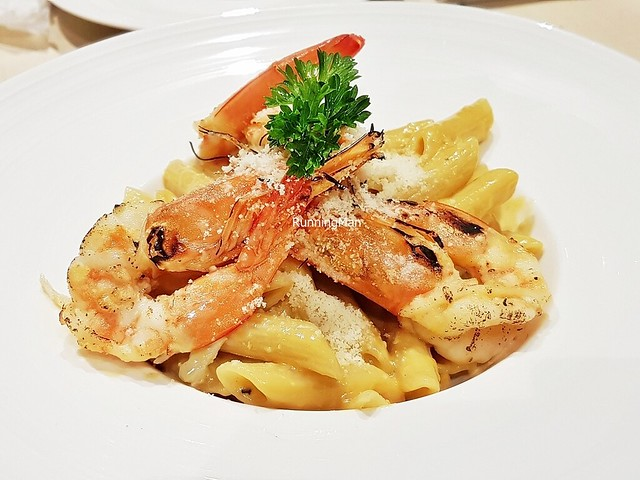 Penne Salted Egg With King Prawns