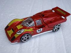 Hot Wheels Ferrari 512M Race Car Metallic Red / Yellow