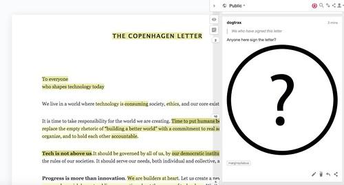Annotation: Copenhagen Letter