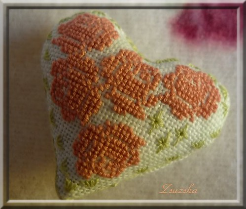 cross stitch, atalie, heart