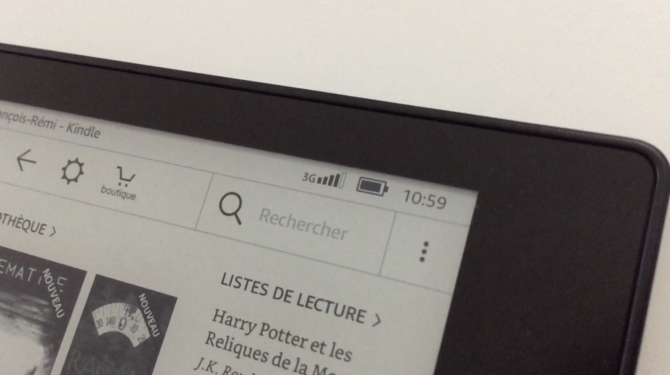 20170827 Test de la liseuse électronique Kindle OASIS Amazon 7