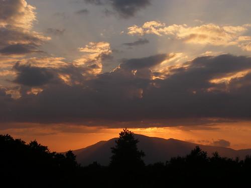 Tramonto dietro Monte Stella (Sa) _ 2007