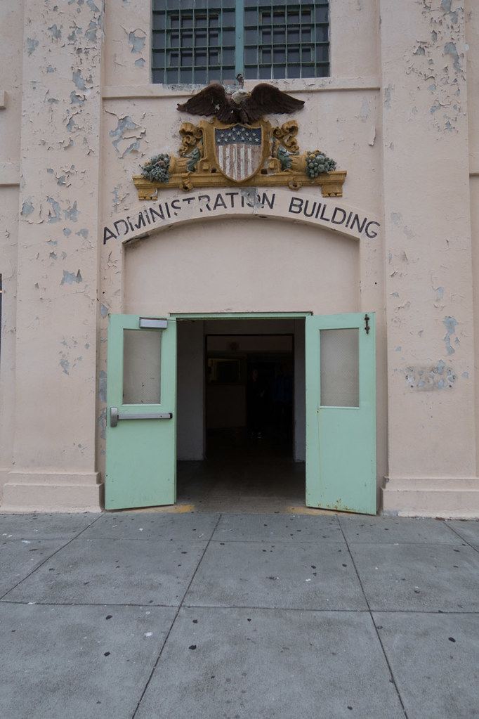 Administration building sign at Alcatraz