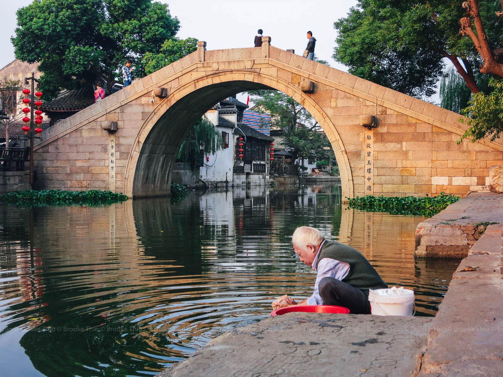 Washing clothes. Xitang water town, Zhejiang, China