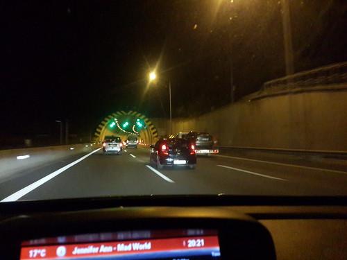 Isztambul-Ankara autópálya sötétben + egy alagút