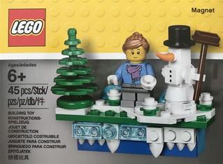 小巧可愛又傳神的雪地場景!!LEGO 853663【磁鐵聖誕節慶組】Christmas Seasonal Magnet