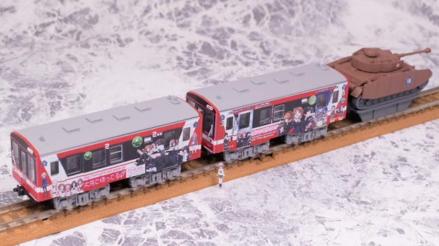 レビュー Bトレインショーティー ガールズ&パンツァーラッピング列車 2号車+3号車(IV号戦車、西住みほフィギュア付き)