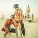 Burning Man Posing by Stuck in Customs