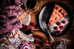 Raspberry and almond pie.