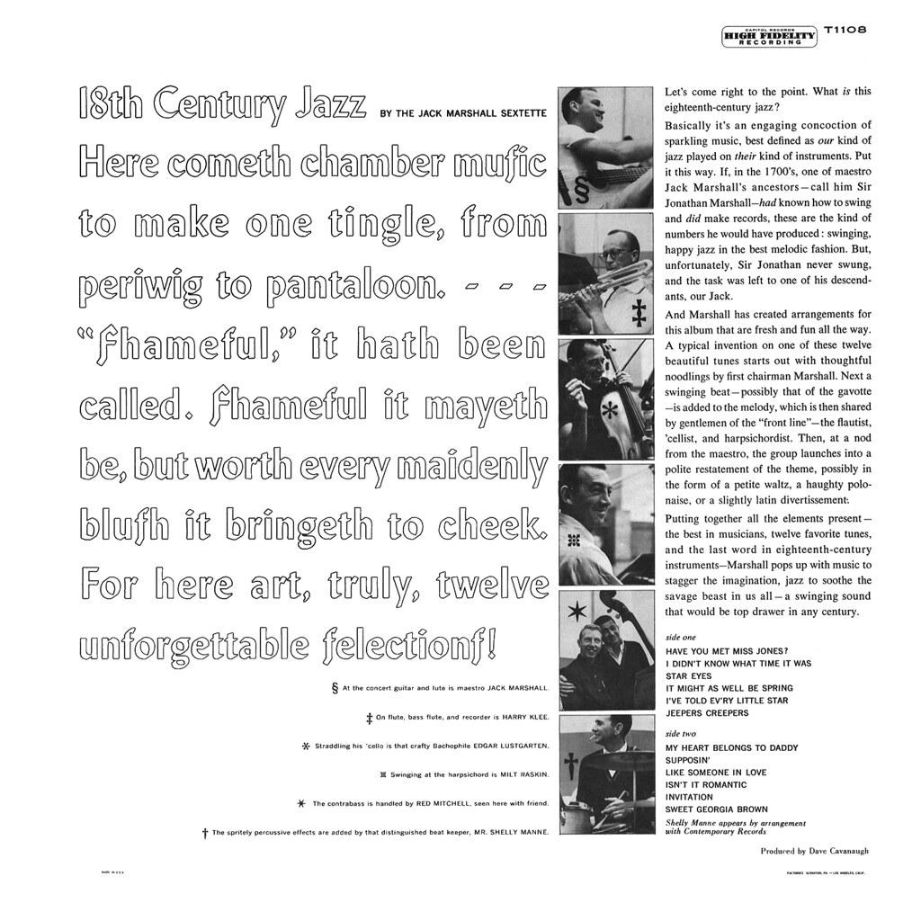 Jack Marshall - 18th Century Jazz