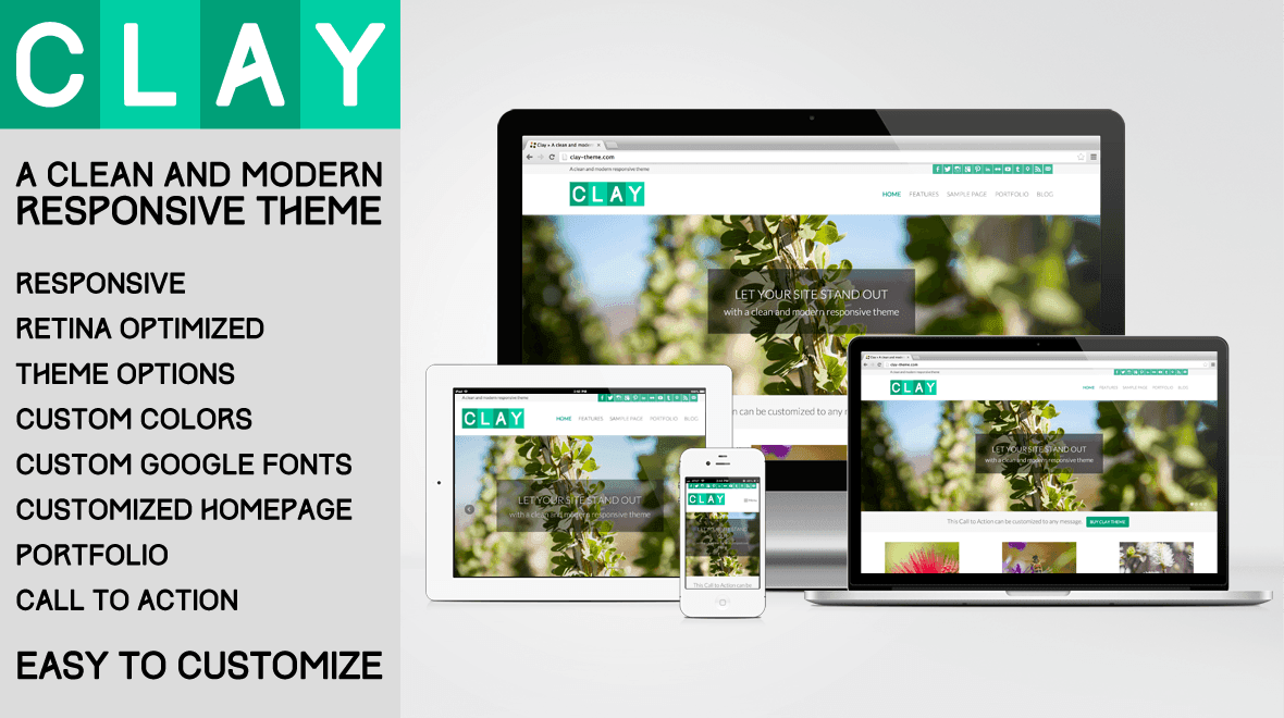 Clay v1.9.1 - All Natural WordPress Theme