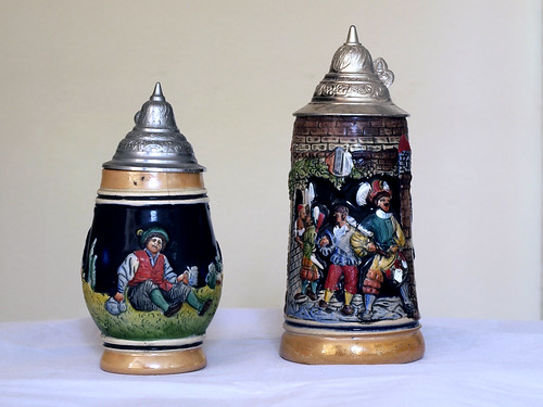 Small ceramic beer steins