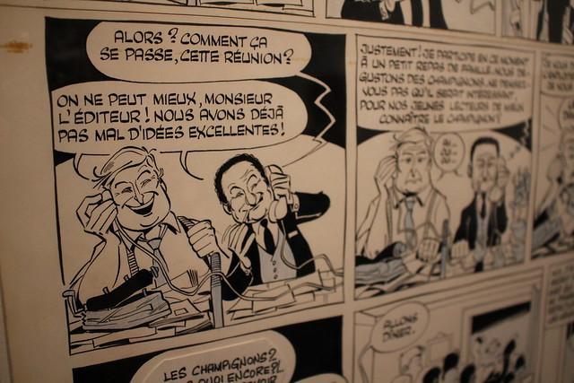 Gotlib, Réunion de rédaction, 1967 - Exposition René Goscinny au Musée d'Art et d'Histoire du Judaïsme