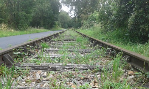 A railway relic on the Avenue Verte