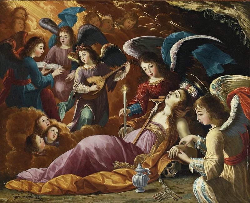 Josefa de Ayala e Cabrera - The Penitent Magdalene Comforted by Angels