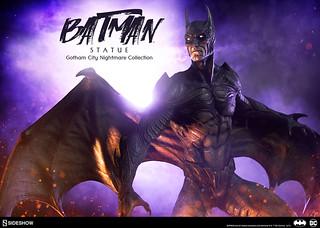 如果真的有這種蝙蝠俠,高譚市就永無寧日啦!!Sideshow Collectibles 高譚市夢魘【蝙蝠俠】Gotham City Nightmare Collection Batman 全身雕像作品