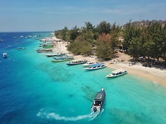 3 nights on Gili Trawangan island has been an experience. With no cars or scooters it was quite a change from the traffic madness of kuta. The water was really nice and the snorkeling was really good. Swam with turtles even ! Was really windy but managed