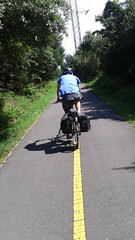 The paved (and mercilessly sunny) W&OD Trail