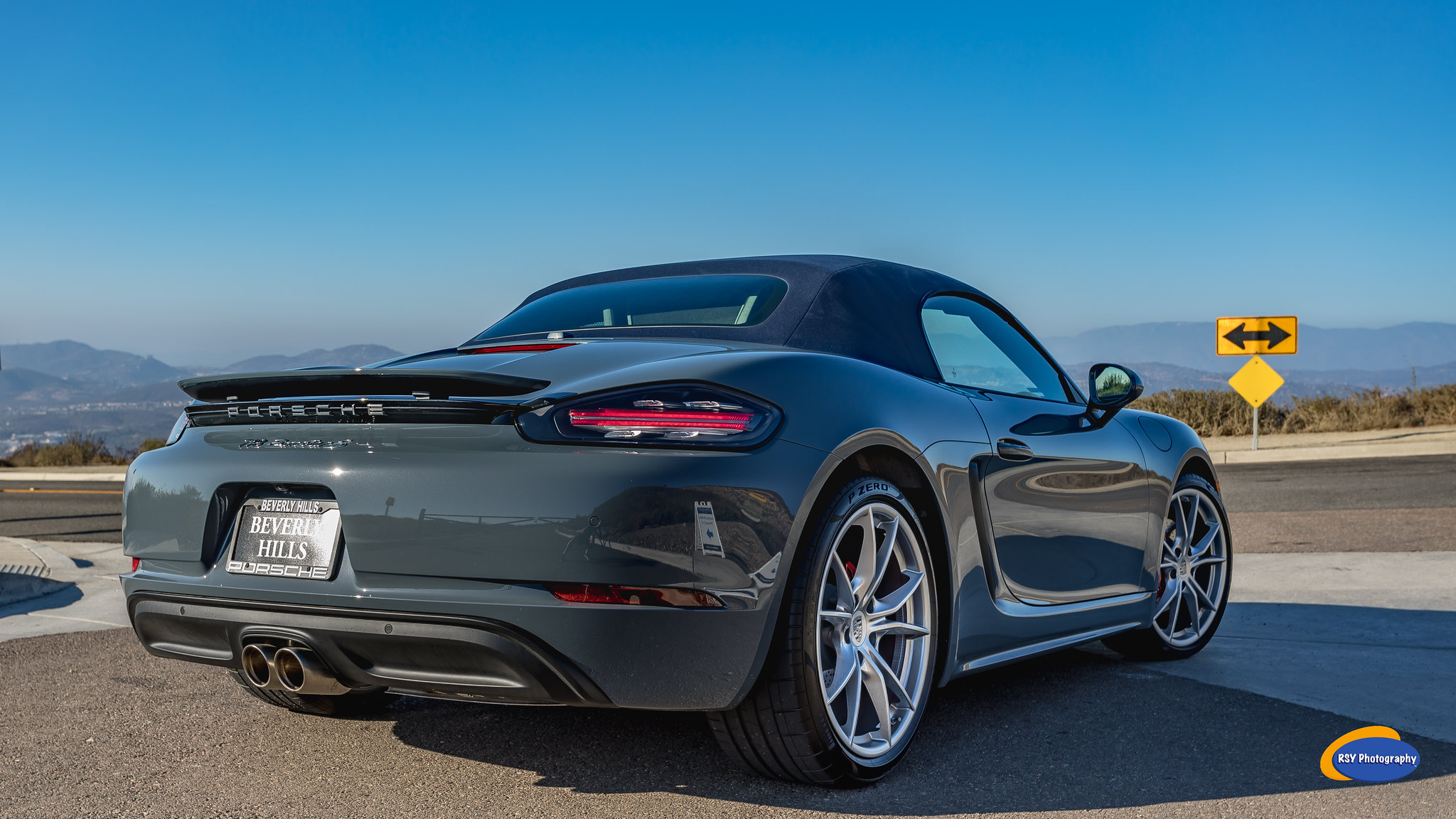 My Graphie Blue 718 Boxster S