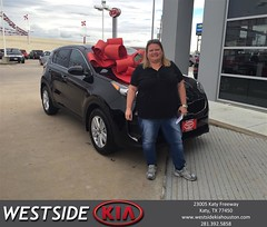 Happy Anniversary to Angela on your #Kia #Sportage from Luis Espinoza at Westside Kia!