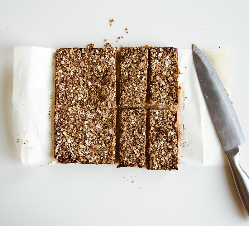 Vegan Toasted Almond Oat Jam Bars