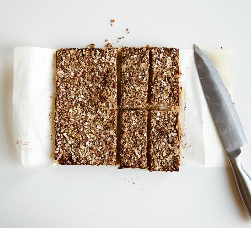 Vegan Toasted Almond Oat Jam Bars