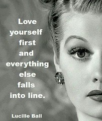 Celebrity Quotes : Love yourself first and everything else falls into line...