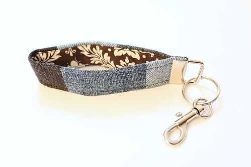 Upcycled Denim Keychain on ETSY