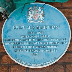 Photo of Helen Allingham blue plaque