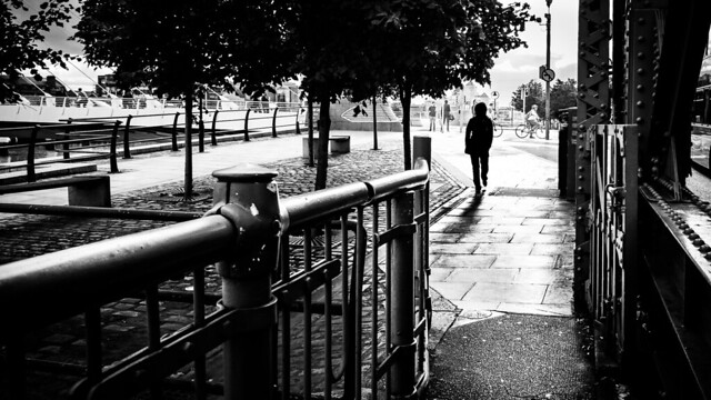 Heading home - Dublin, Ireland - Black and white street photography