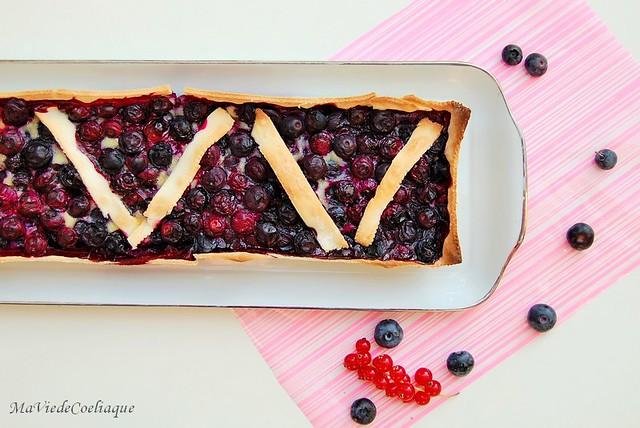 tarte aux myrtilles sans gluten sans lactose