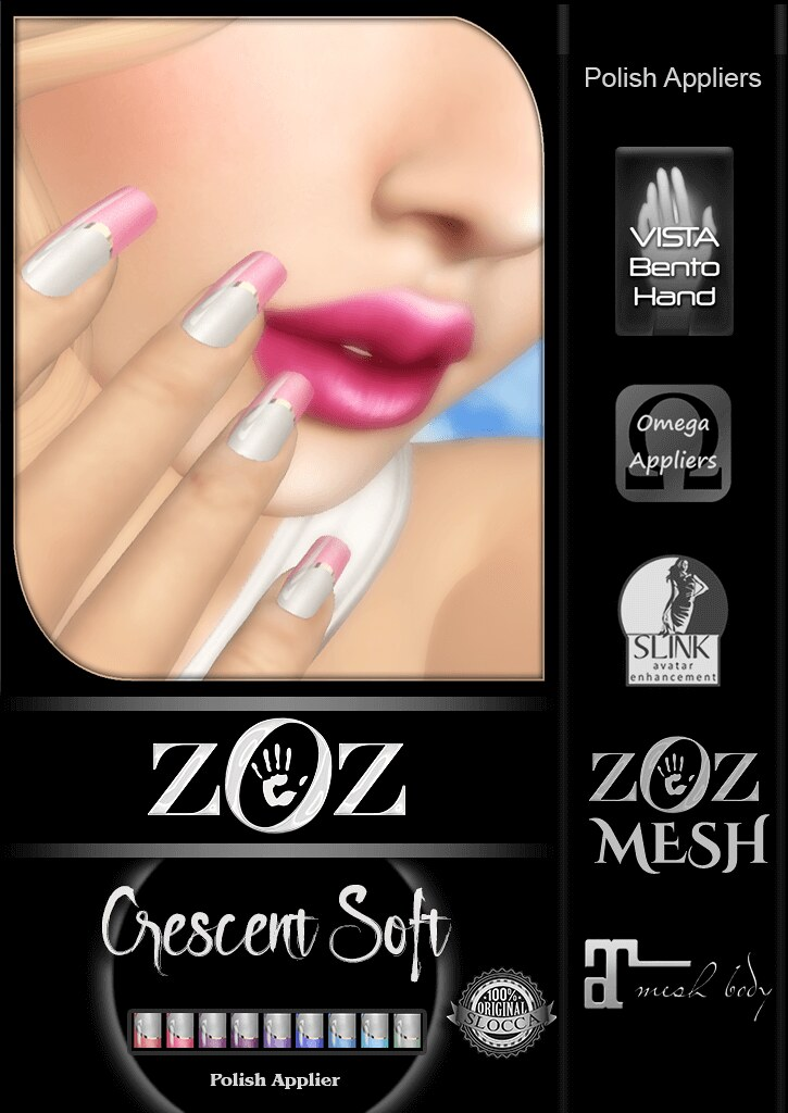 {ZOZ}  Crescent Soft pix L - SecondLifeHub.com