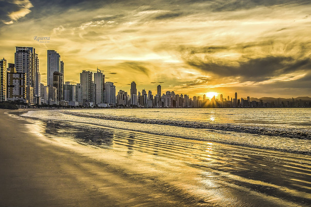 Sunset in Camboriu Beach