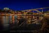 Rabelos in Gaia, Porto at night by Iñigo Escalante